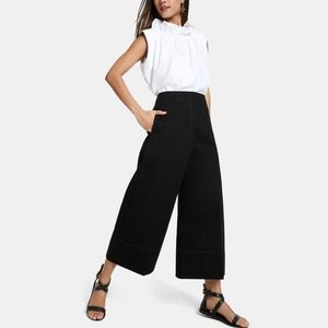 NEW LEMAIRE CROPPED WIDE-LEG PANTS XS